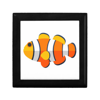 Clown Fish Primitive Style Keepsake Box
