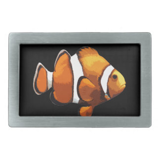 Clown fish rectangular belt buckle