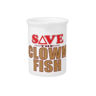 Clown Fish Save Beverage Pitcher