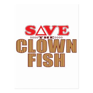 Clown Fish Save Postcard