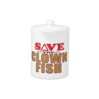 Clown Fish Save Teapot