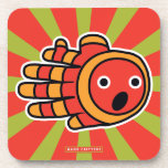 Hand shaped Clown Fish Swimming with Mouth Open Beverage Coaster