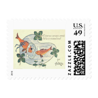 Clown Fish Water Lily Postage