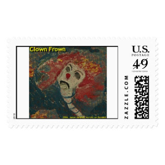 clown frown  postage stamps