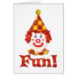 Clown Fun Card
