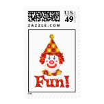 Clown Fun Postage Stamps