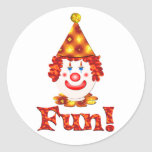 Clown Fun Round Sticker
