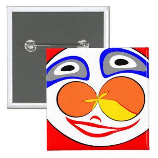 Clown funny face button