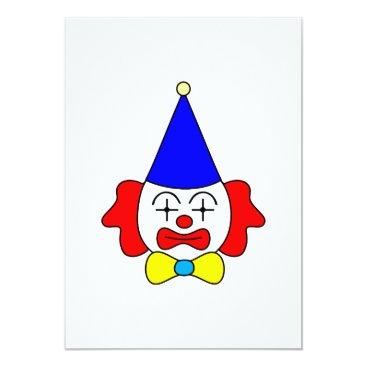 Art Themed Clown - funny face. card