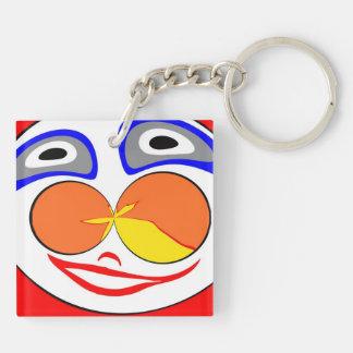 Clown funny face acrylic key chain