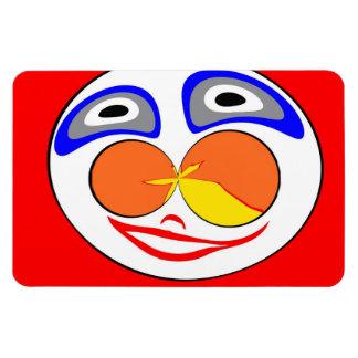 Clown funny face rectangular photo magnet