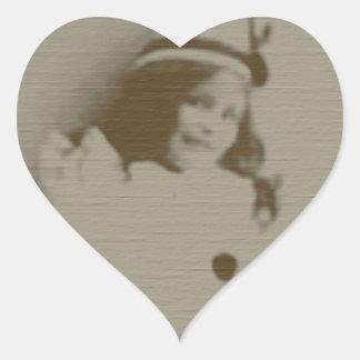 Clown Girl Heart Sticker