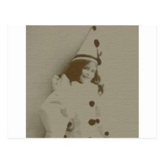 Clown Girl Postcard