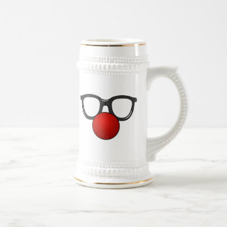 Clown Glasses and Nose Beer Stein