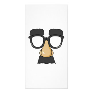 Clown Glasses and Nose Photo Card Template