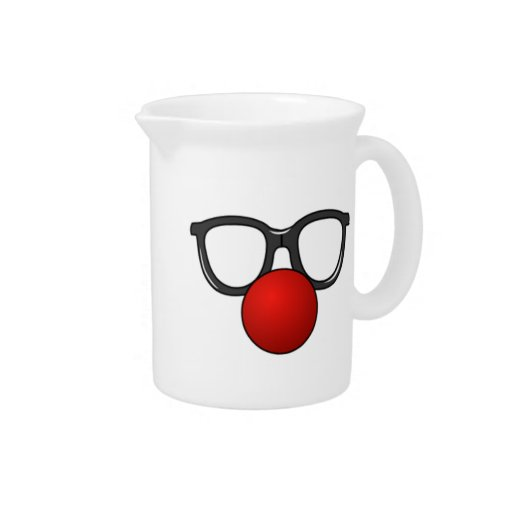 Clown Glasses and Nose Pitchers