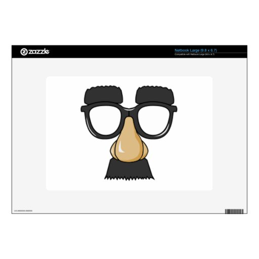 Clown Glasses and Nose Netbook Decals