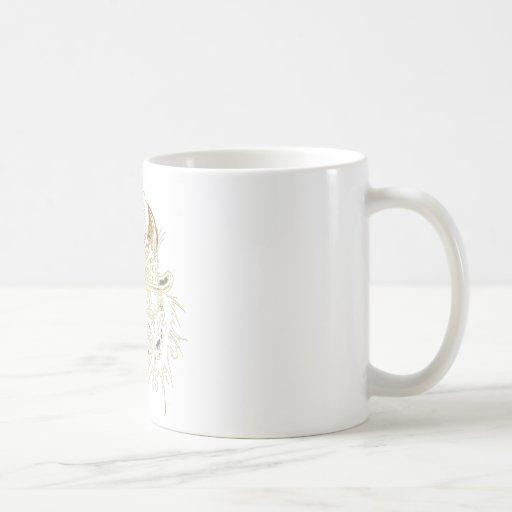 Clown Gold Outline Coffee Mug