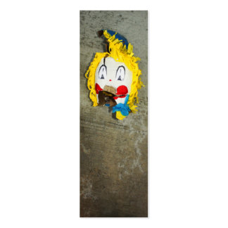 Clown Head Double-Sided Mini Business Cards (Pack Of 20)