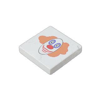 Clown head cartoon stone magnet