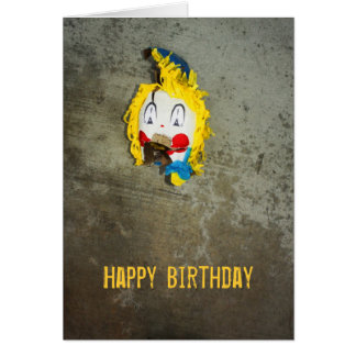 Clown Head Happy Birthday Card