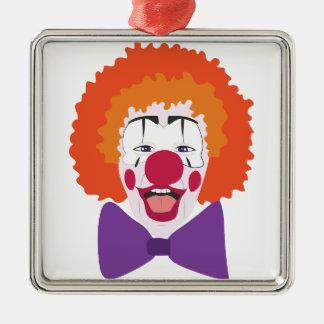 Clown Head Metal Ornament