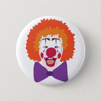 Clown Head Pinback Button