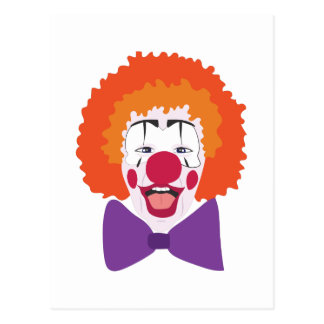 Clown Head Postcard