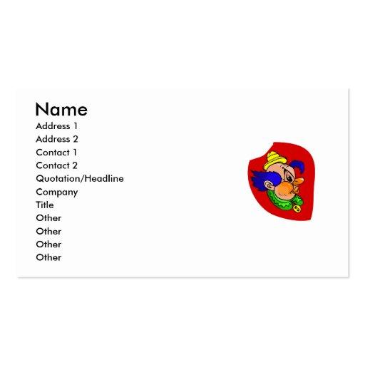 Clown Head Profile Business Card Template