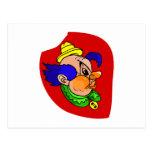 Clown Head Profile Post Card