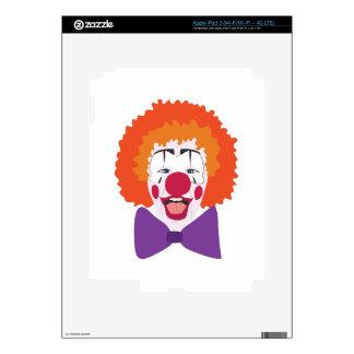 Clown Head Skins For iPad 3