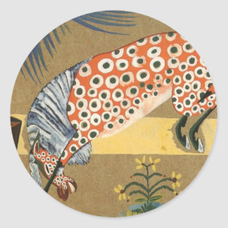 Clown, Horse Salamandra by Amadeo de Souza-Cardoso Classic Round Sticker