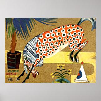 Clown Horse, Salamandra - Souza-Cardoso art Poster
