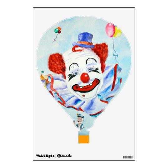 Clown Hot Air Balloon Wall Decal