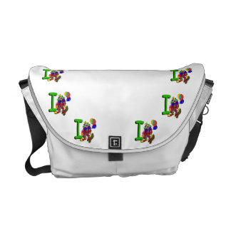 Clown I.png Messenger Bag