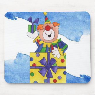 Clown in a Present Mouse Pad