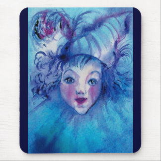 CLOWN IN BLUE MOUSE PAD