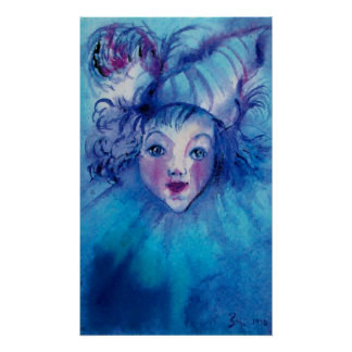 CLOWN IN BLUE POSTER