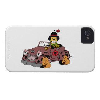 Clown in Car iPhone 4 Cover