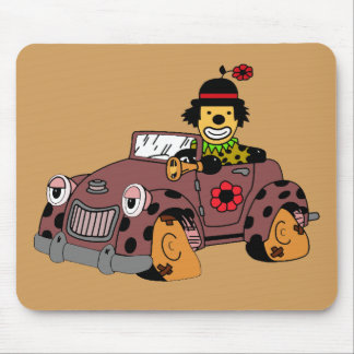 Clown in Car Mouse Pad