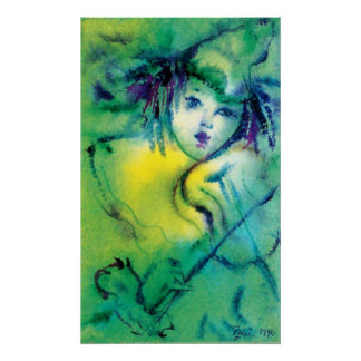 CLOWN IN GREEN POSTER