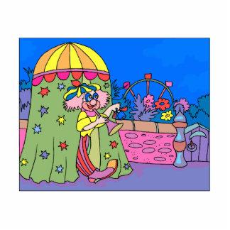 clown in little tent cutout