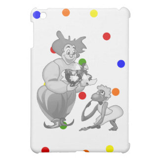 Clown in love with monkey in dress iPad mini cover