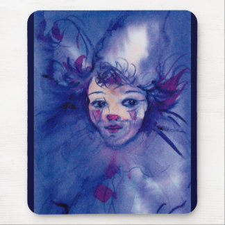 CLOWN IN PURPLE MOUSE PAD