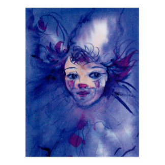 CLOWN IN PURPLE POSTCARD