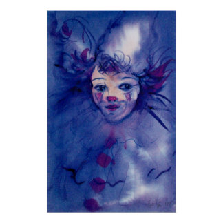 CLOWN IN PURPLE POSTER