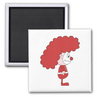Clown in Red and White. Cartoon. Fridge Magnets