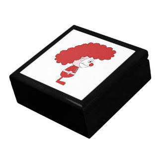 Clown in Red and White Cartoon Gift Box