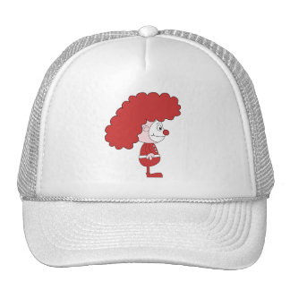 Clown in Red and White. Cartoon. Trucker Hats
