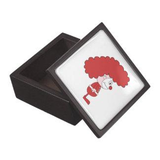 Clown in Red and White Cartoon Premium Jewelry Box
